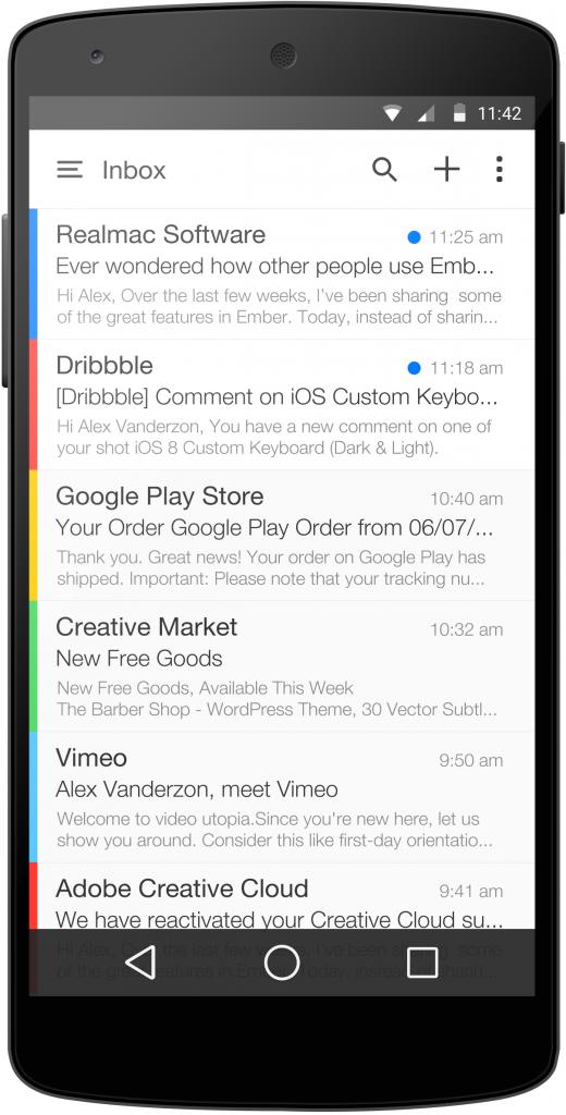 Android L Mail App by Alex Vanderzon