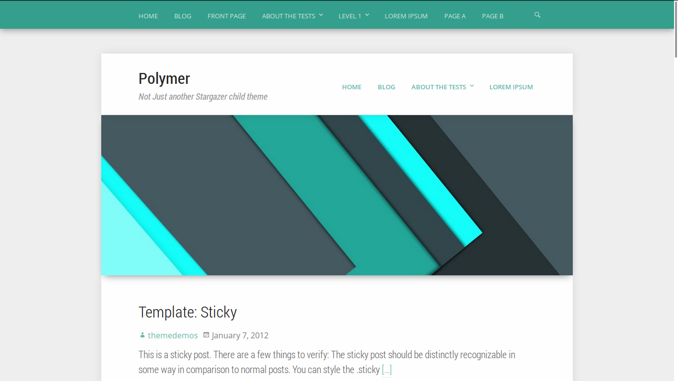 Polymer - WordPress theme