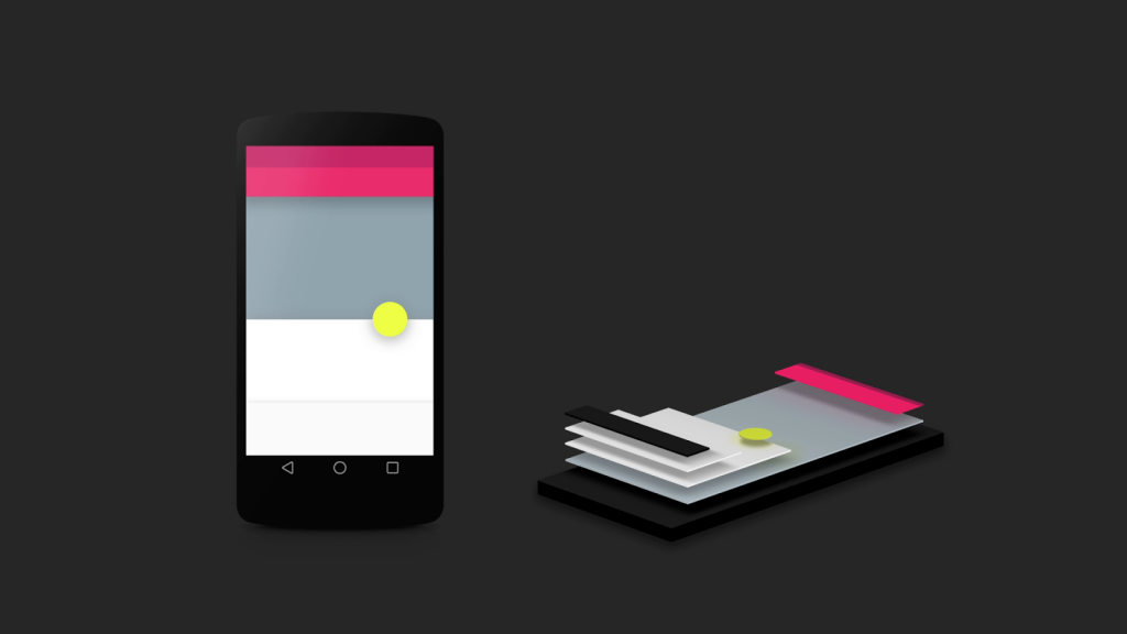 Google's Material design architecture