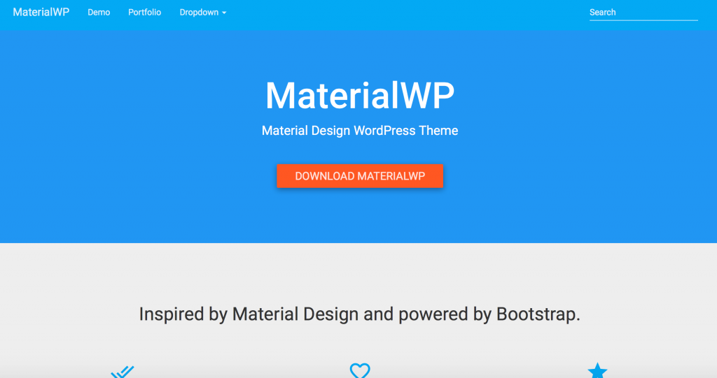 Wordpress Material Design Theme