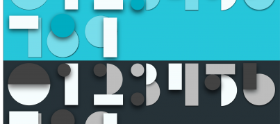 Material design numbers - free adobe illustrator download