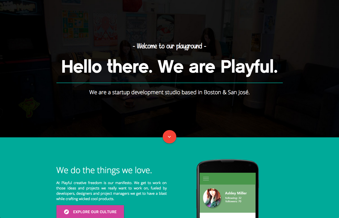 Playful,fresh and colorful portfolio website by Startup development ...