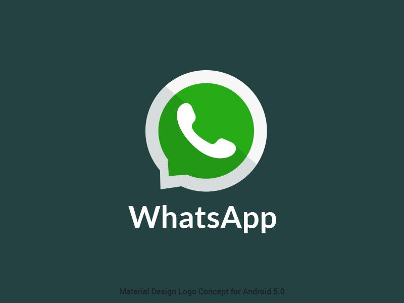 WhatsApp logo concept by designer  Dominik Biedebach