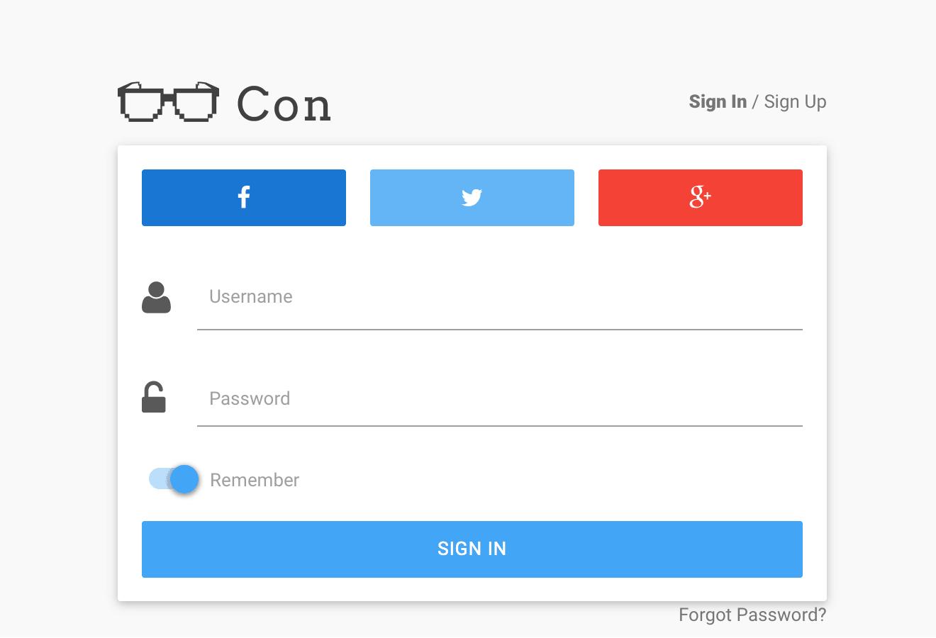 login-material-design-template