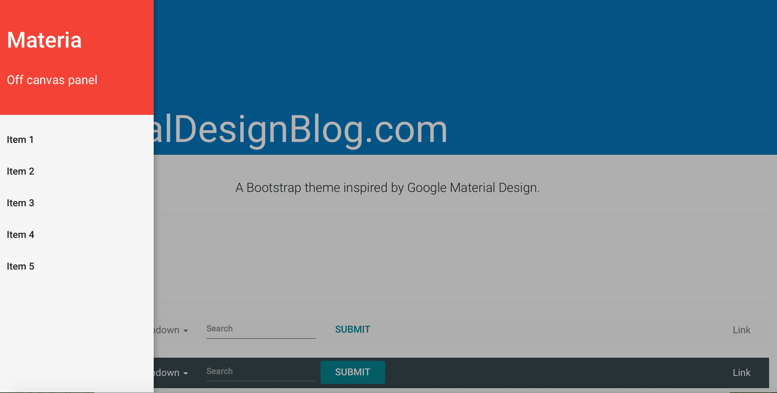 Well Crafted Material Design Bootstrap Theme - Google design templates