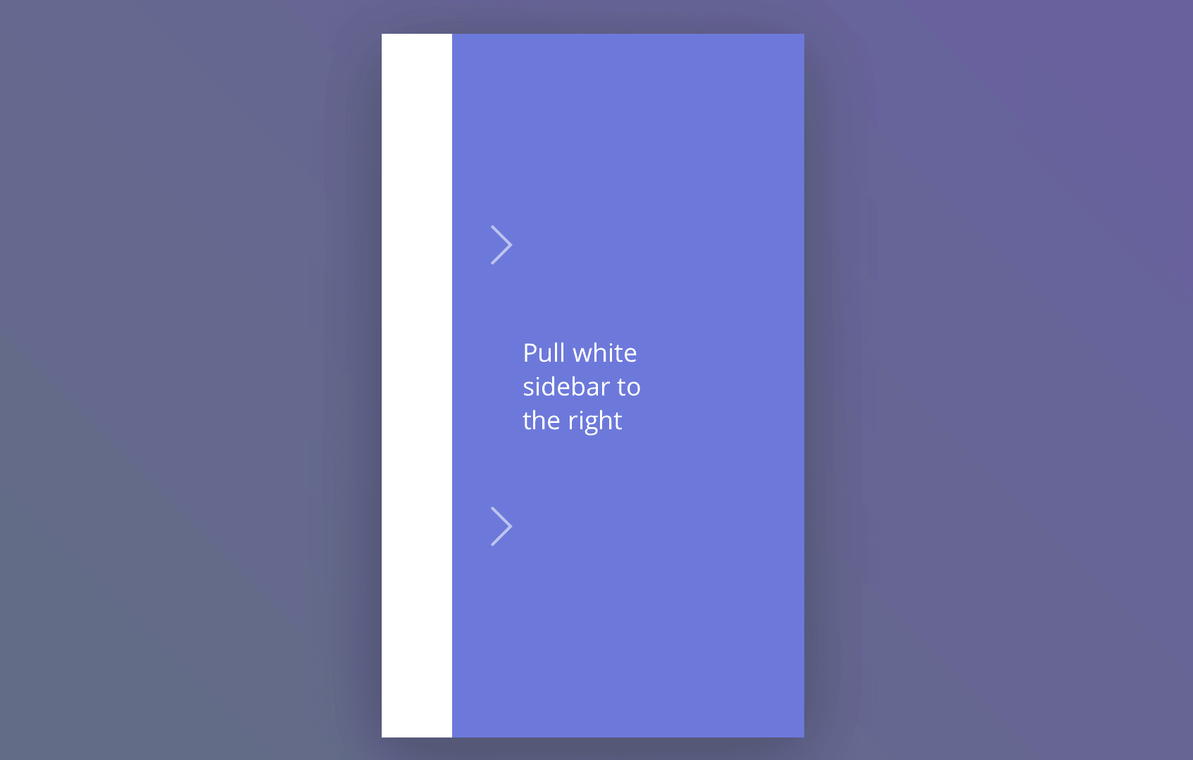 Bouncy Material Design navigation drawer in CSS