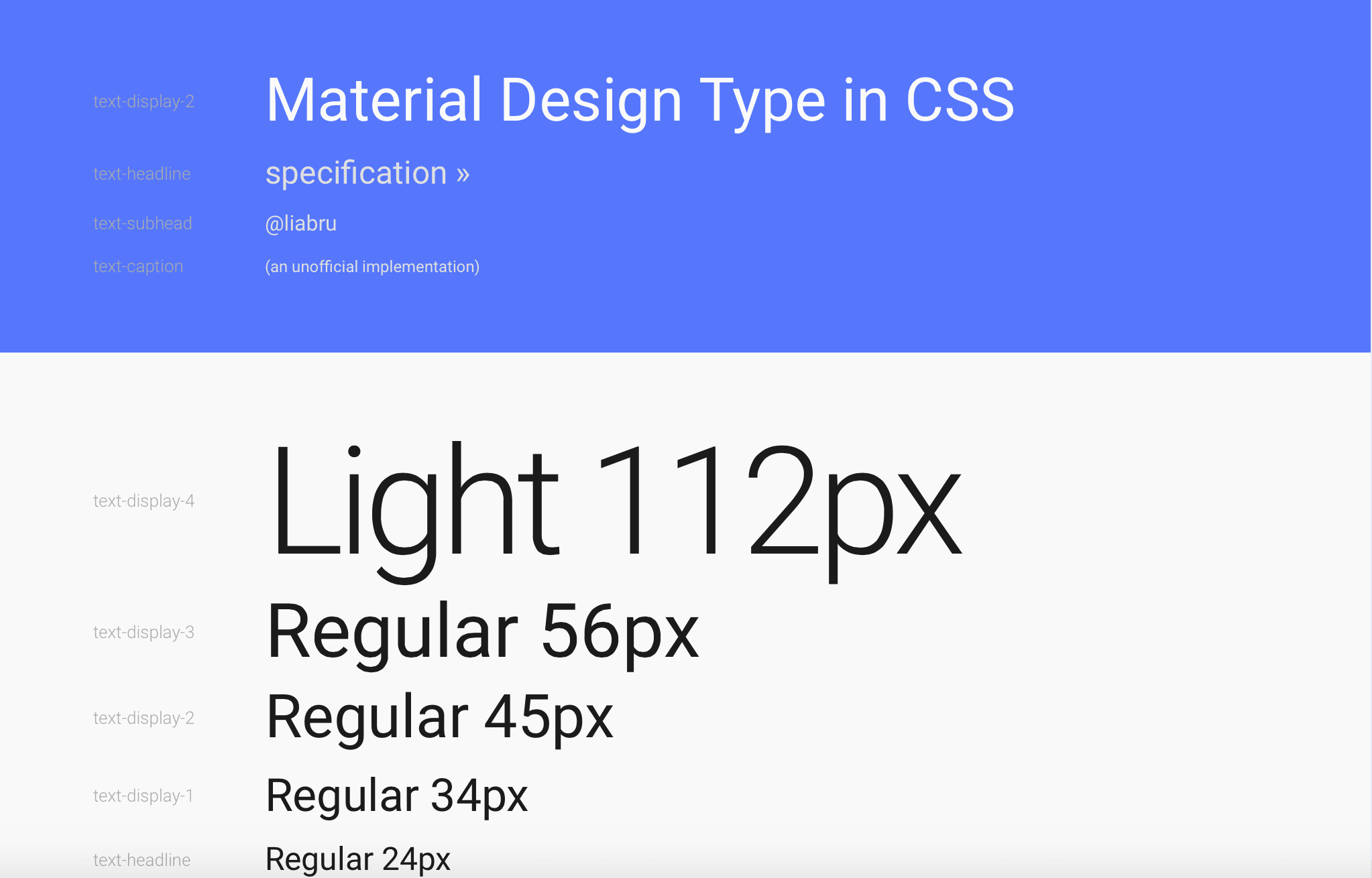 material-design-typography-css