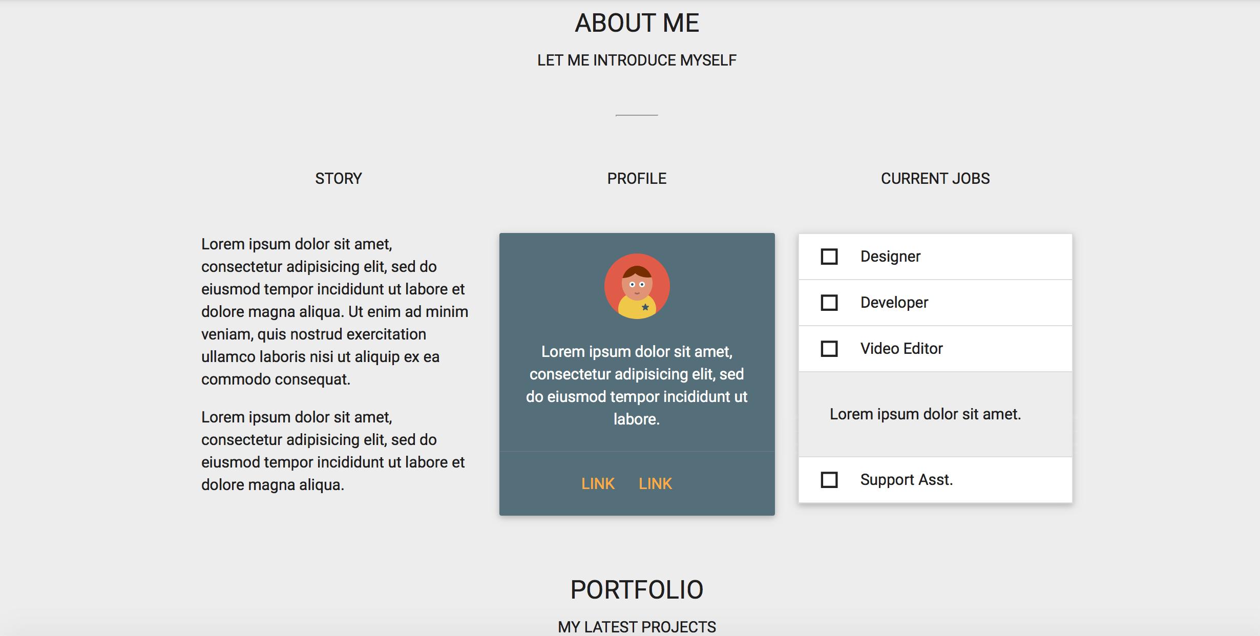 design portfolio template