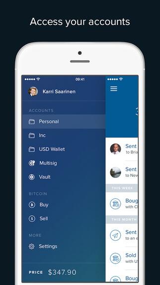 iOS-coinbase-material-design