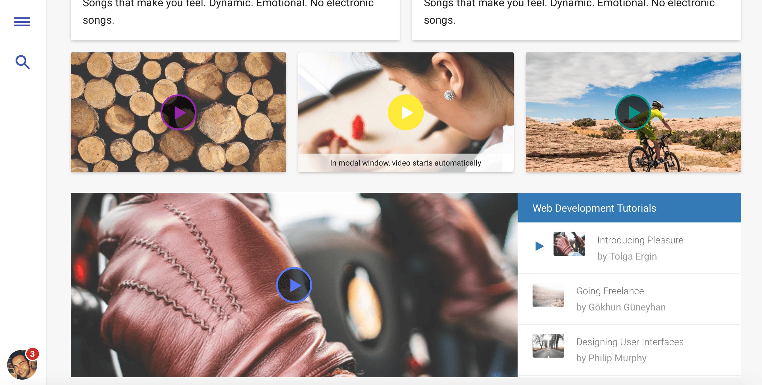 video-material-design-template