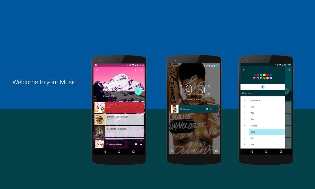 material-design-music-app