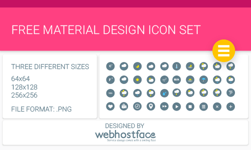 10 sets of free Material Design icons for web designers and