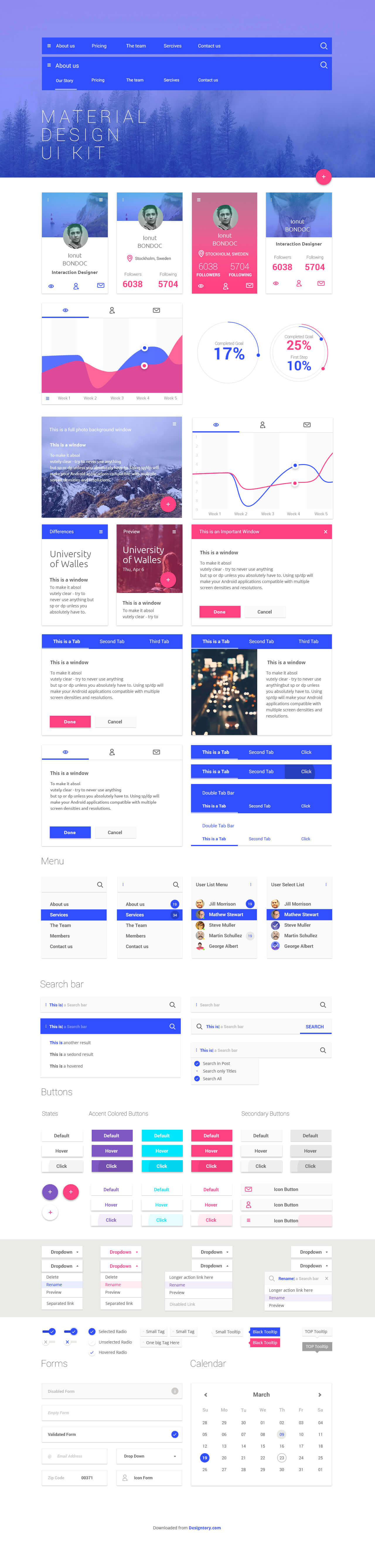 Free Material Design Ui Kit For Web Designers
