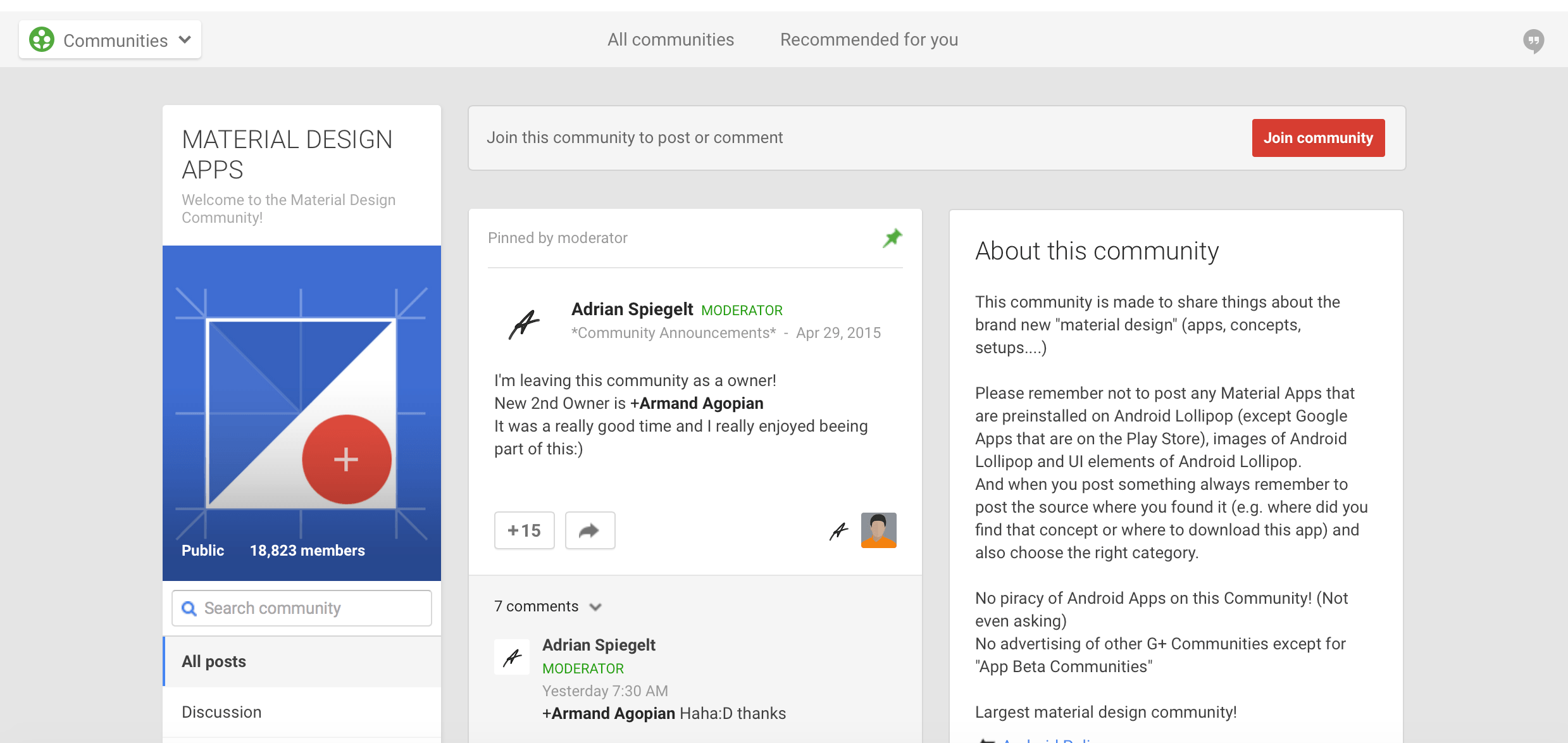community-material-design