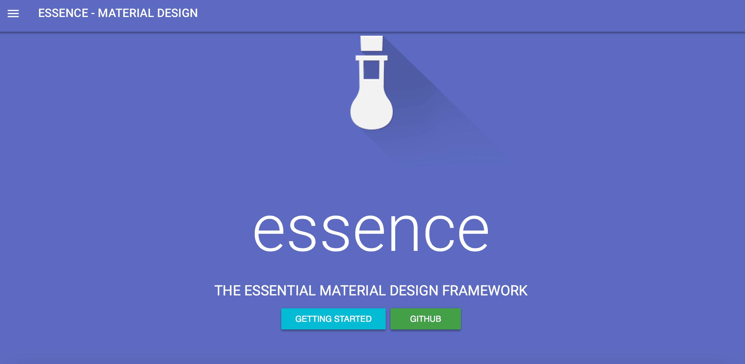 essence-material-design-css-framework