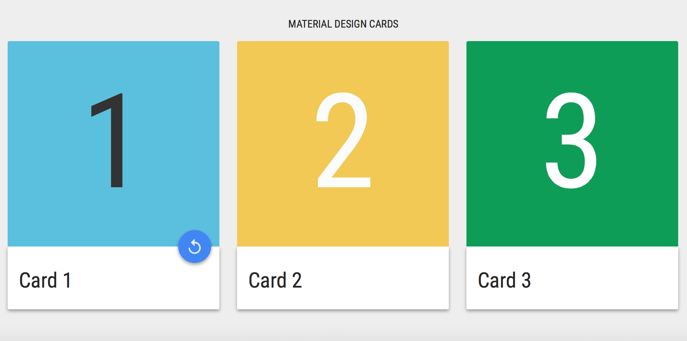 10 Material Design cards for web in CSS & HTML