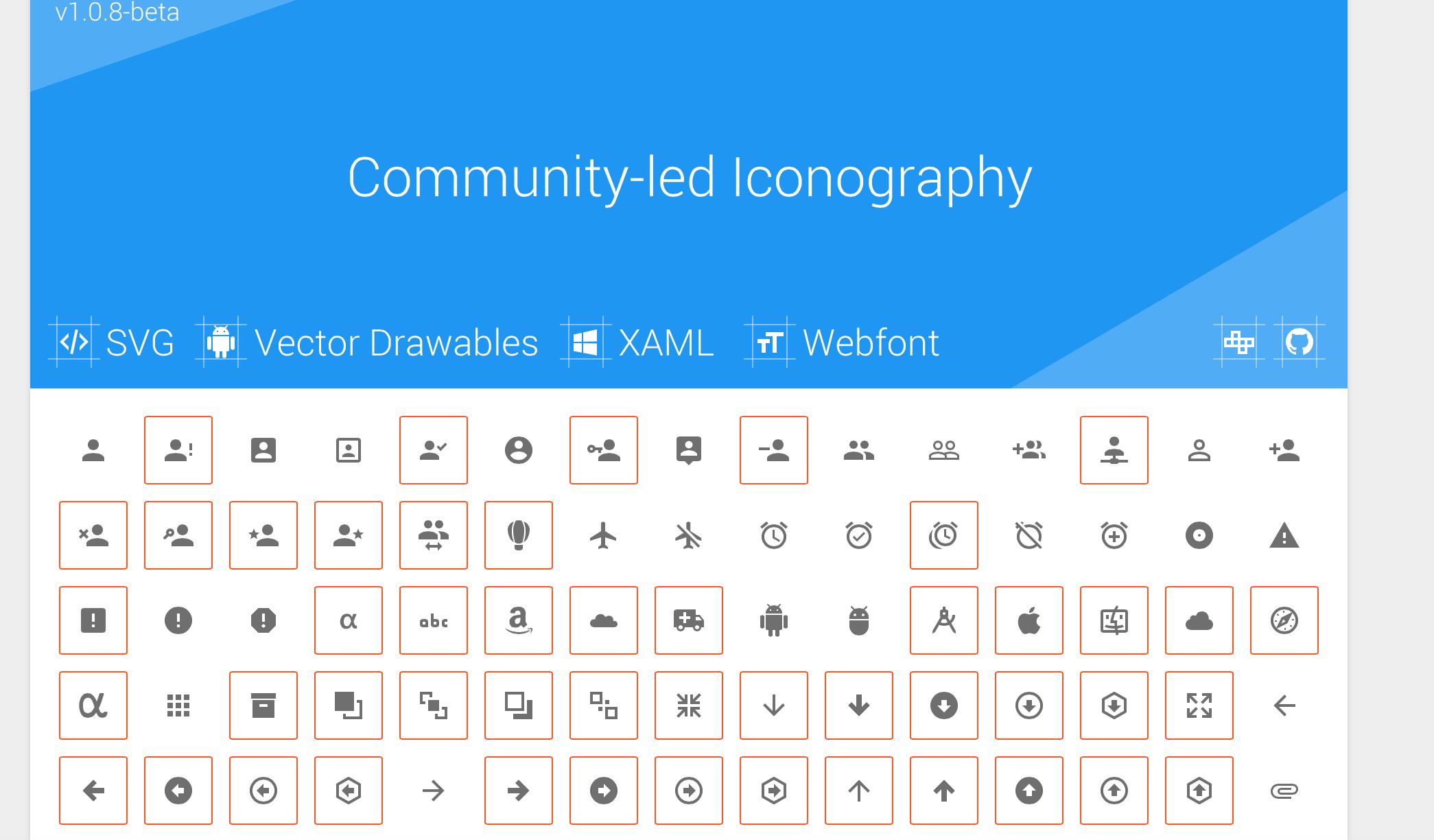 angularjs material icons