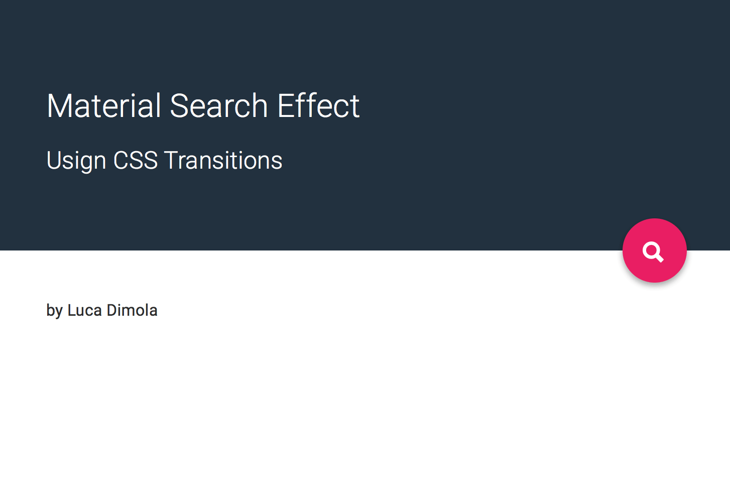 Material Design Search Effect In CSS