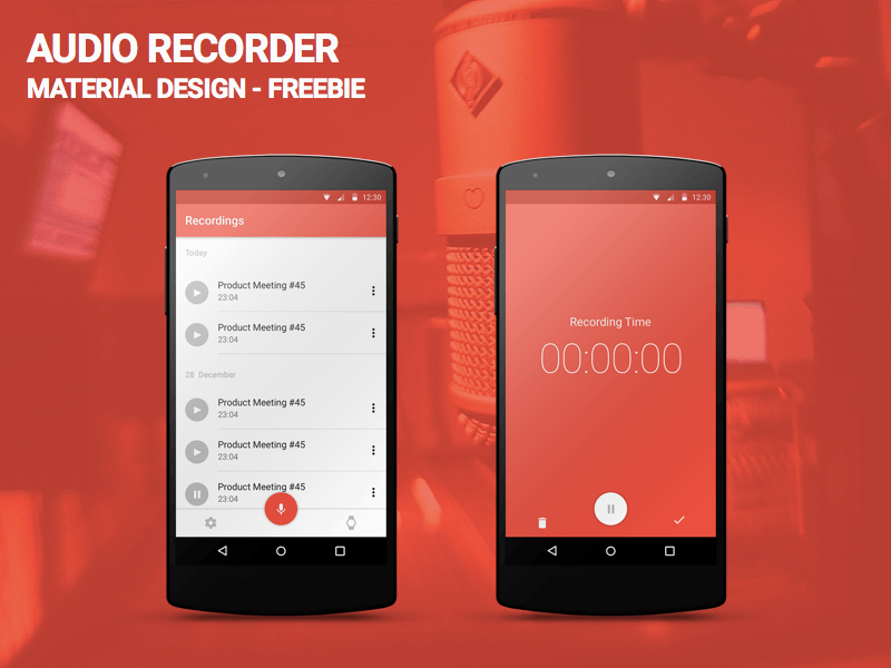 AUDIO RECORDER - MATERIAL UP