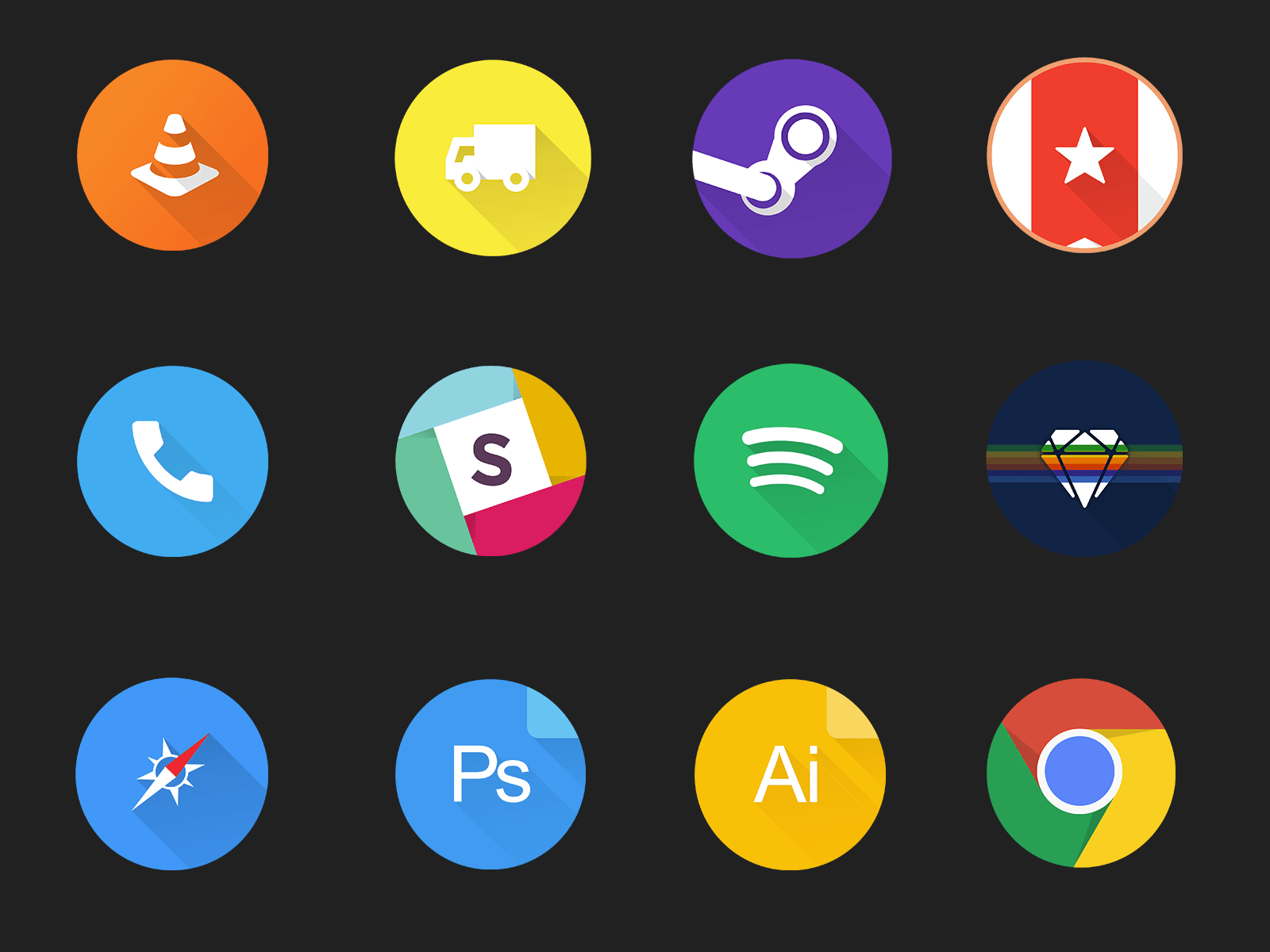 Free set of material design icons