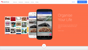 Nexpick homepage.