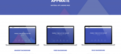 appmate-material-design-landing-page