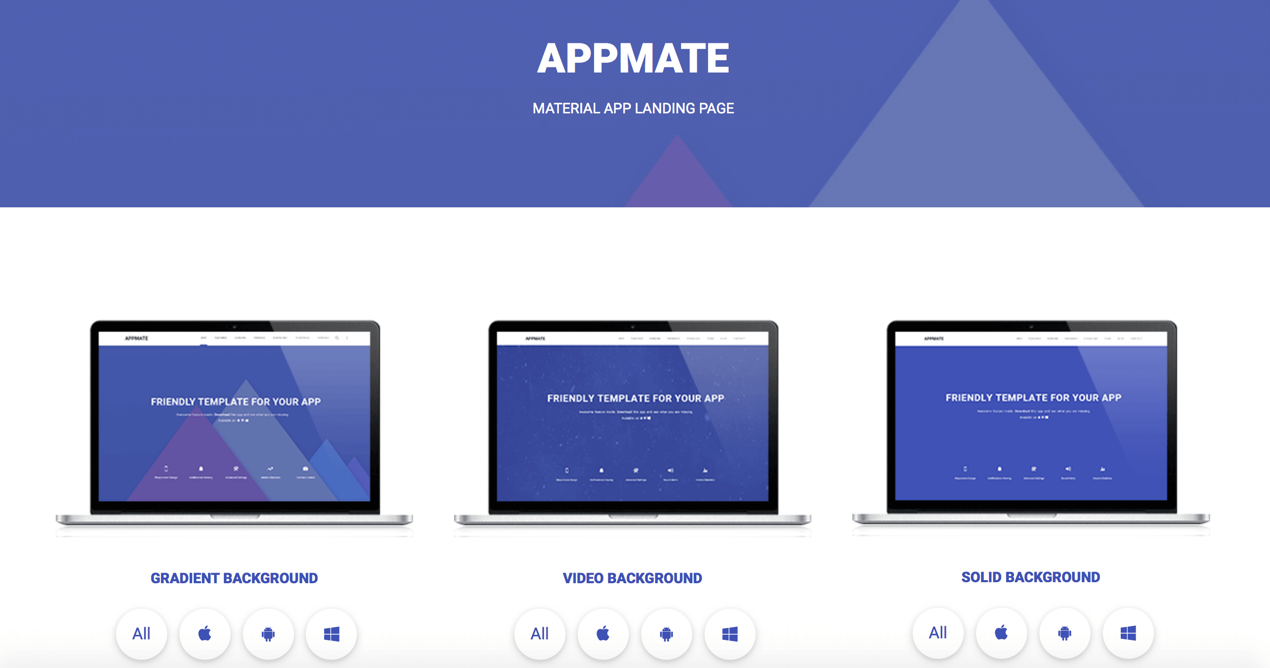 Top 5 Material Design Landing Page Templates
