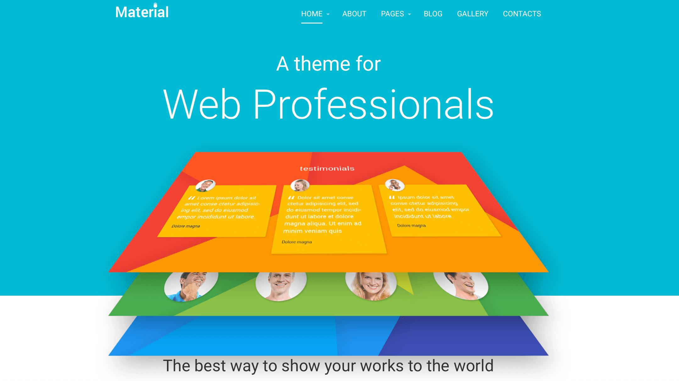 material-design-template