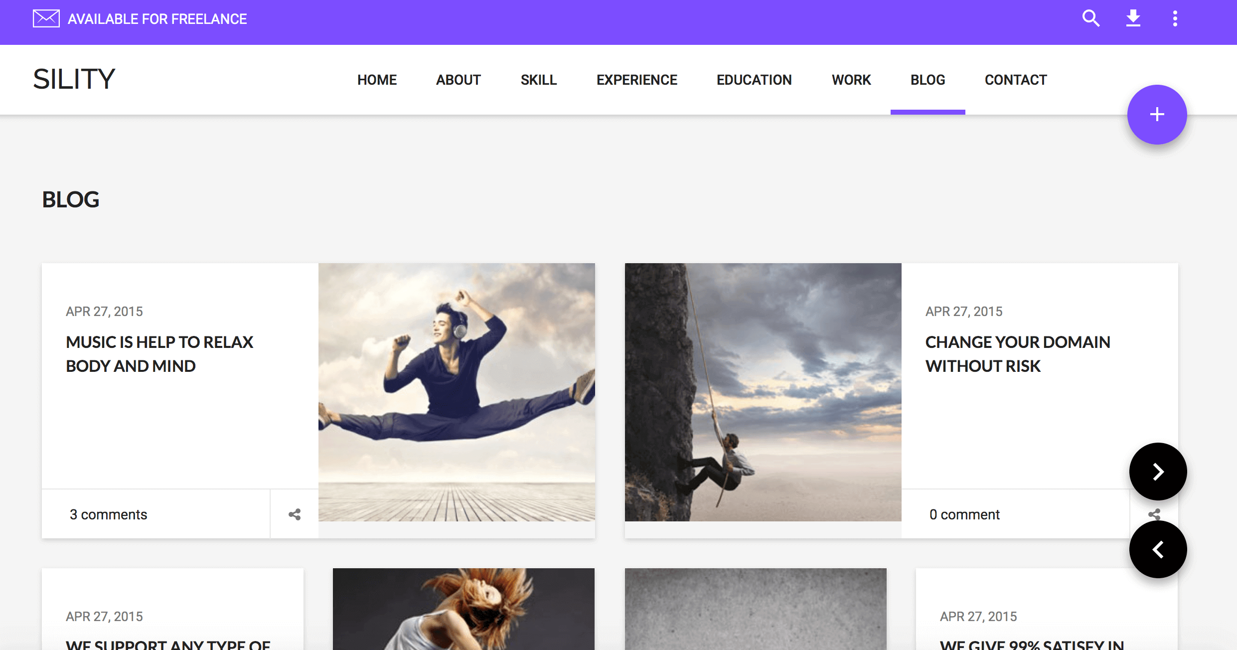 Sility material design wordpress theme for your online for Create your own wordpress theme from an html template