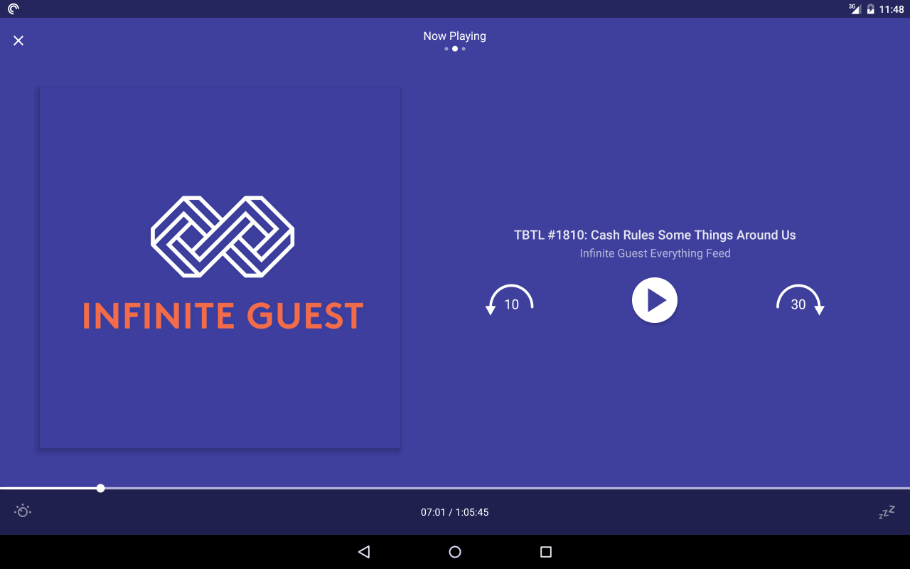 Podcasts material design app