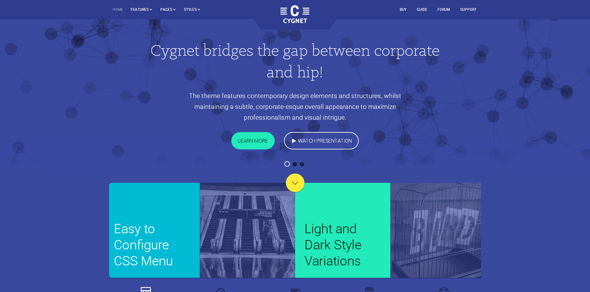 Cygnet-material-design-wordpress-theme