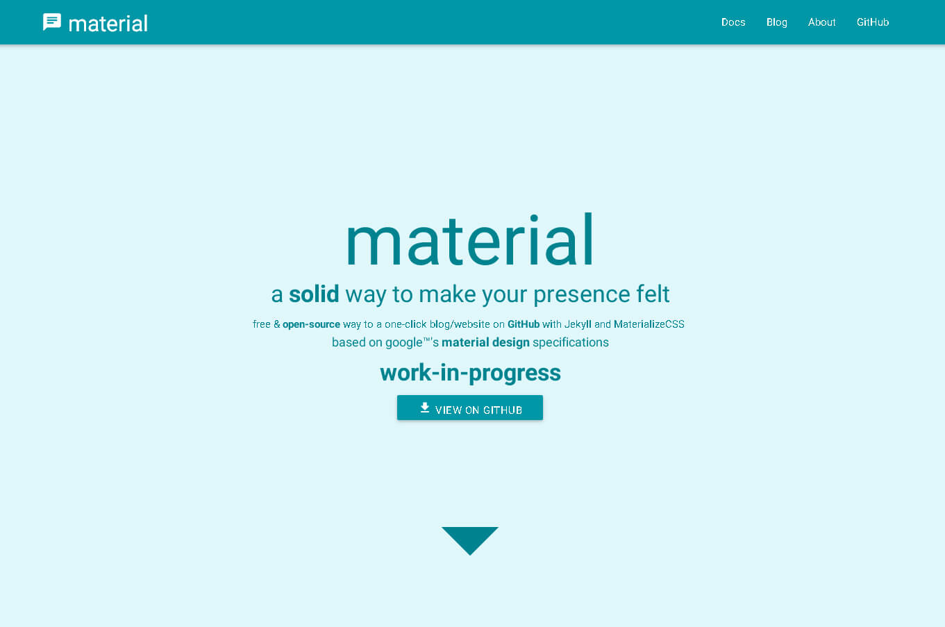 material-blog-theme-free