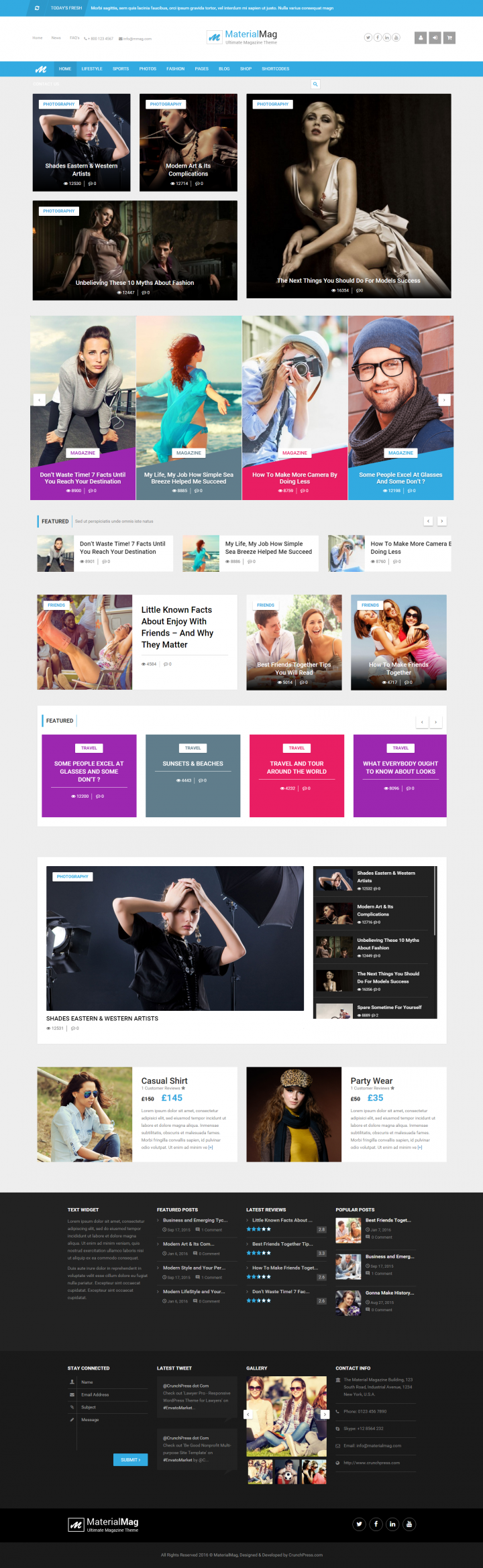 Material Mag WordPress Theme