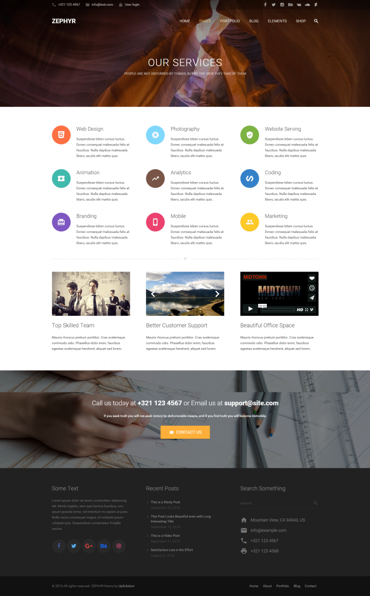 Zephrn Material Design WordPress Theme