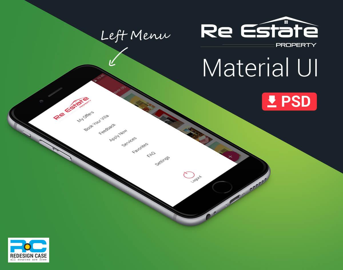 realEstate app Material design-UI Idea