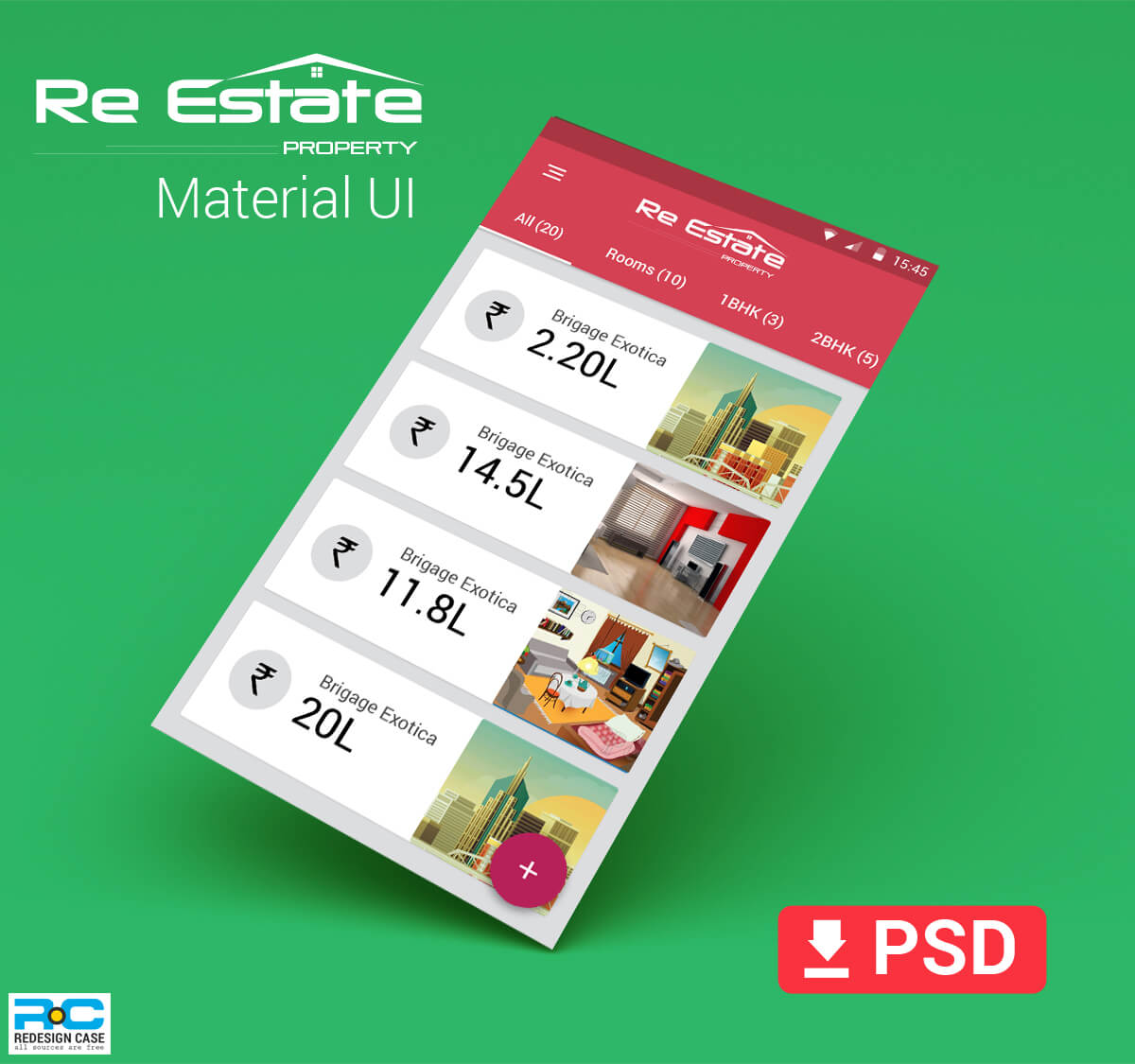 realEstate app material app design screen