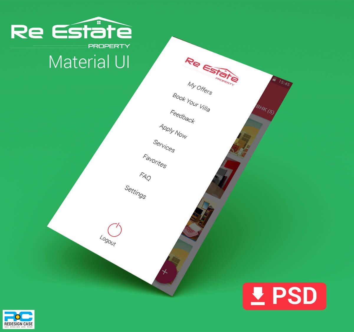 realEstate app material app design