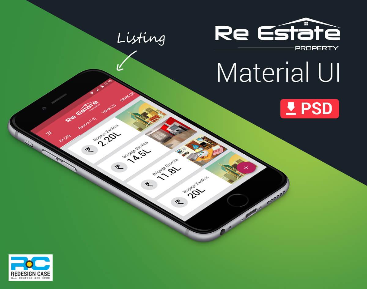 realEstate App material design-UI-