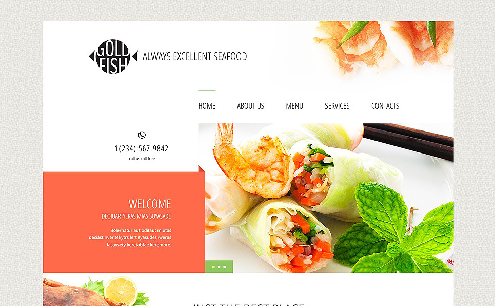 Gold Fish Website Template