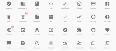 Material icons Google Design