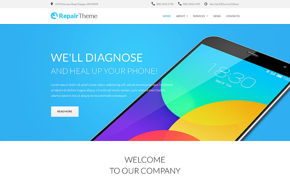 RepairTheme Website Template