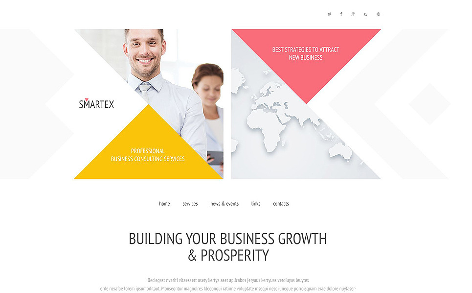 Smartex Website Template