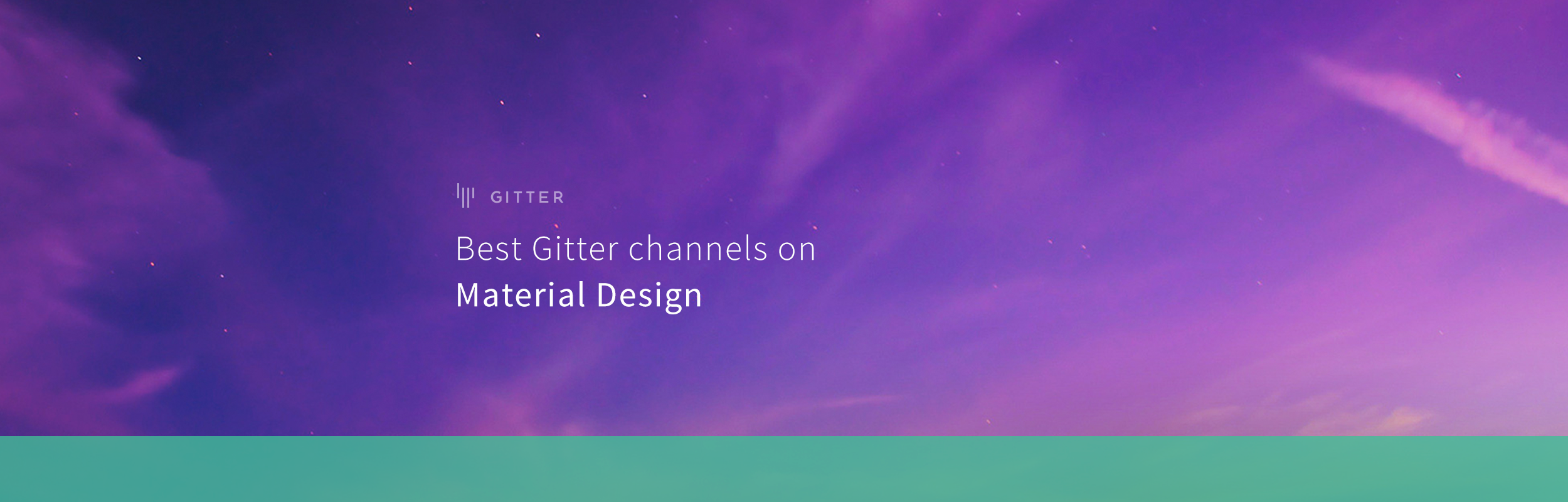 Best Material Design Channels on Gitter