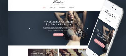 Get a Fashion Blog live at No Cost with Kustrix Lite – Free GPL WordPress Theme